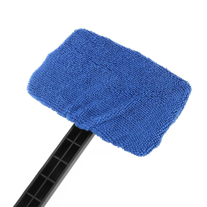 2pcs Car Windshield Cleaner Brush Auto Window Glass Cleaning Brush Tools with Long Handle (Blue)