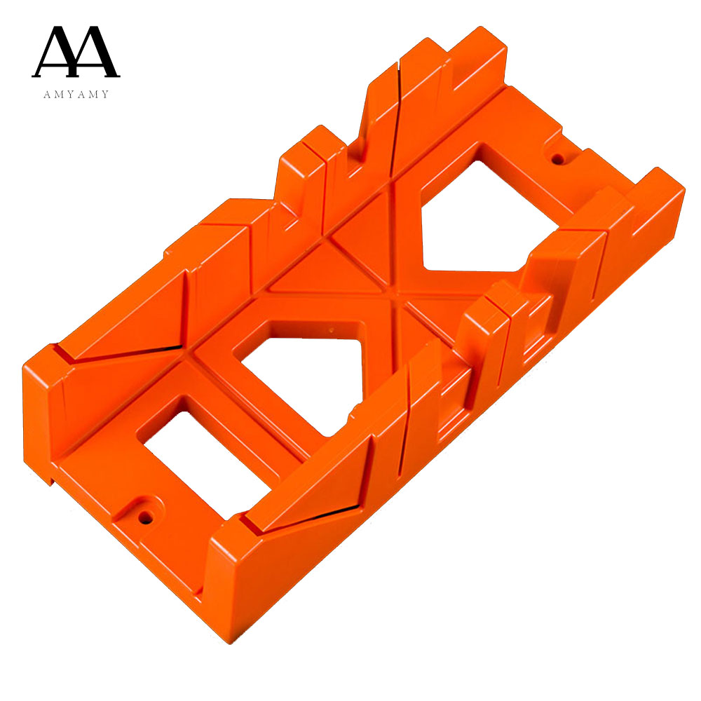 Small Mitre Box Tool Case Saws Cabinet saw case Woodworking Tools 22.5 45 Degrees 90 Degree Saw Box  oblique stitching holding saws box saw ark woodworking diy home carpenter working 14