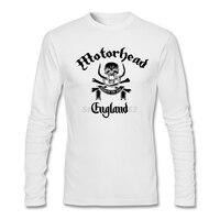 Schaffen t-shirt mit Männer rockmusik Motörhead Logo Langarm Screw Neck mens Tees Comic t-shirt