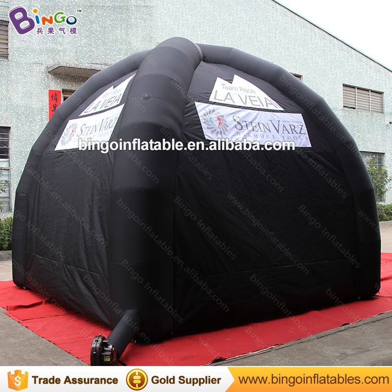 Free shipping all black inflatable spider gazebo tent customized blow up canopy tent for event with logo printing toy tents-in Toy Tents from Toys u0026 Hobbies ... & Free shipping all black inflatable spider gazebo tent customized ...