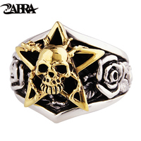 Skills Old Silversmith 100 925 Silver Skull Rings Punk Tidal Gentleman Personality Ring The Index Finger