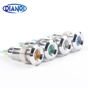 Indicator-Light Signal-Lamp 220v LED 24V 8mm 12V Waterproof Metal 6V 8ZSD.A.C Colorful