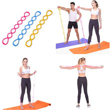 Get 7 Holes Silicone Yoga Resistance Band Fitness Pull Rope Body muscle Training relaxation Tools Portable home gym 15 wholesale