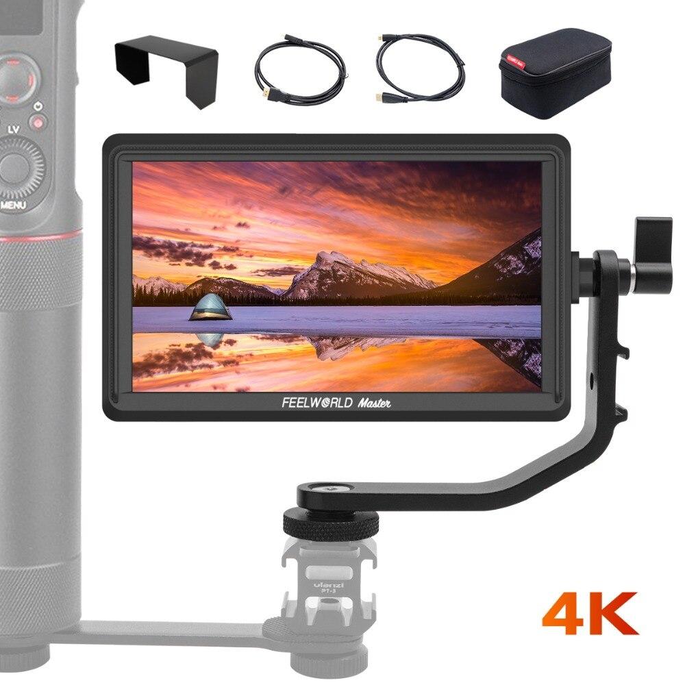 FEELWORLD Master 2019 New Series MA6P 5.5 On-Camera Monitor 1920x1080 4K HDMI Input/Output for Gimbals Zhiyun Crane 2 DSLRsFEELWORLD Master 2019 New Series MA6P 5.5 On-Camera Monitor 1920x1080 4K HDMI Input/Output for Gimbals Zhiyun Crane 2 DSLRs