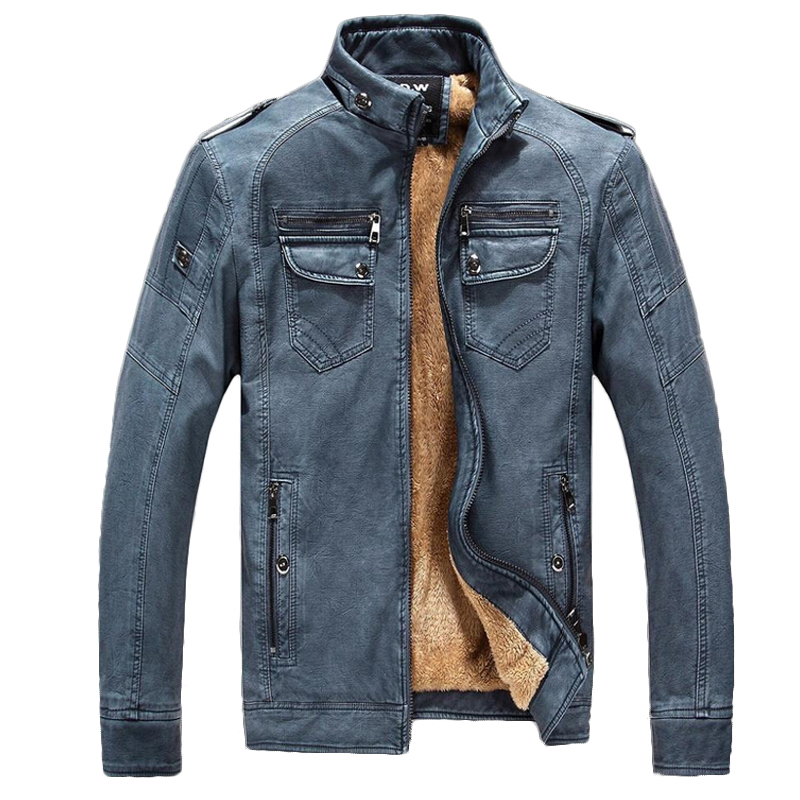 BOLUBAO Brand Winter Men Leather Jacket 2019 Men s Fashion Motorcycle Style Coat Male Slim Windproof