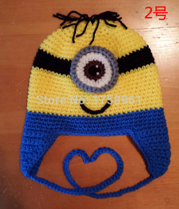 Minion crochet sombrero, niño traje, girls clothing, regalos de ...
