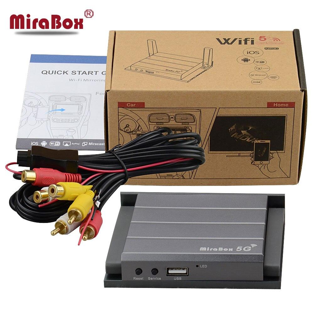 Mirabox 5 г автомобилей, Wi-Fi MirrorLink коробка Поддержка ios11 с телефона Android CVBS <font><b>HDMI</b></font> RCA AV AUX Выход AirPlay Miracast DLNA для cardvd