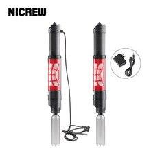 NICREW için sifon akvaryum filtresi sünger elektrikli akvaryum çakıl temizleyici su filtresi sifon filtre değiştirici balık tankı için