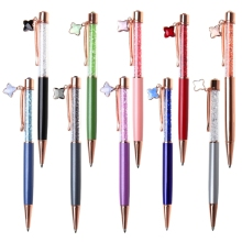 1pcs Lovely Star Pendant Ballpoint Pens Ballpen For Office School Writing Supplies Stationery Crystal Writing Metal Pen