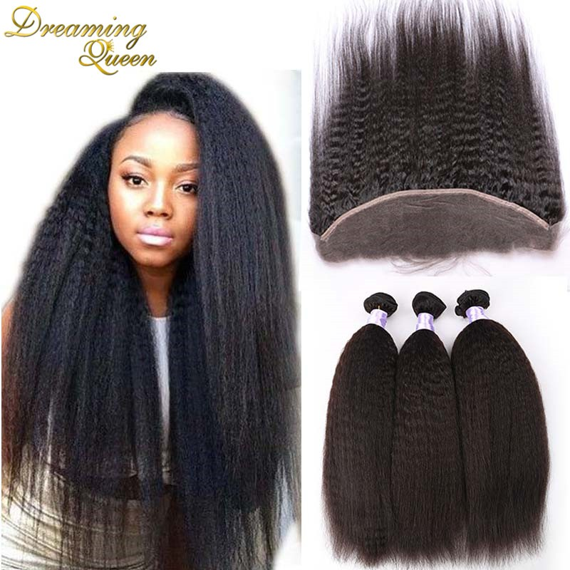 Kinky Straight Lace Frontal With Bundles07