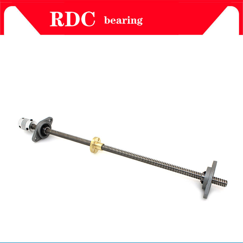 Image 3 - High quality T8 Lead screw 700 mm 8mm + brass copper nut + KP08 or KFL08 bearing Bracket +Flexible Coupling for 3D printer&CNC-in Bearings from Home Improvement