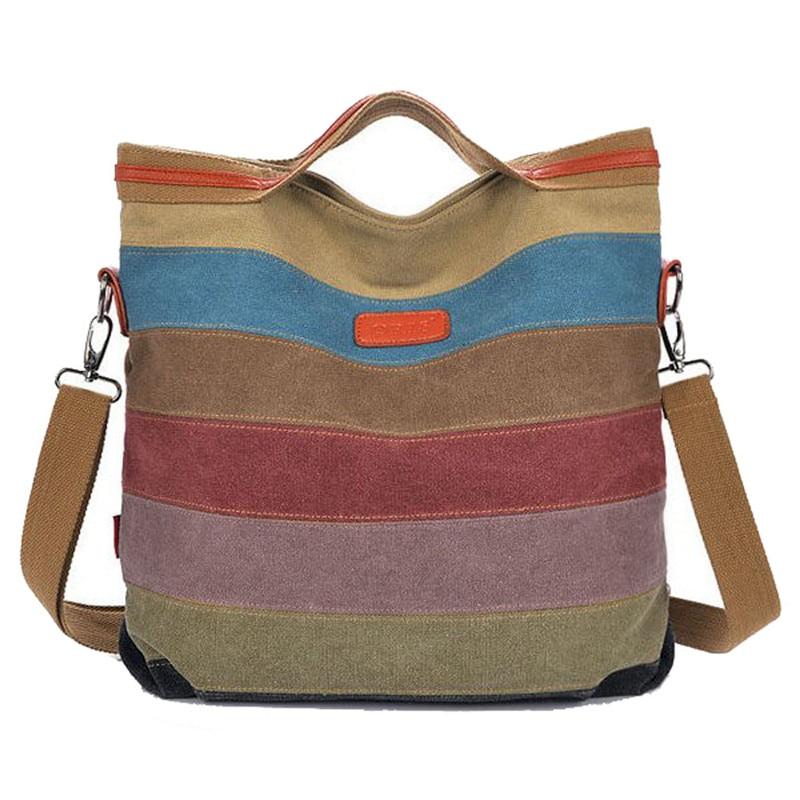 Φ_ΦВысокое качество Для женщин холст <b>сумка</b> полосатая ...