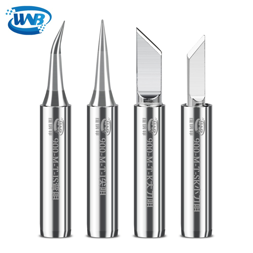 WNB Lead-Free Copper-Aluminum Soldering Iron Tip Constant-Temperature 900M-T Welding Tips For 935/936/937/938 Soldering Stations