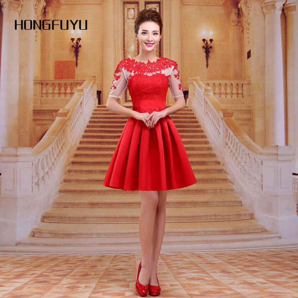 Red Appliques Prom Dresses Scoop Backless Prom Dress 2018 A Line ...