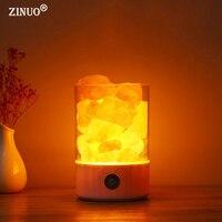 ZINUO Himalayan Salt Lamp LED Night Light USB Rechargeable Air Purifier Crystal Salt Rock Bedside Night