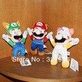 Envío libre Animado Super Mario Suave Felpa Muñeca Juguetes regalo de Cumpleaños
