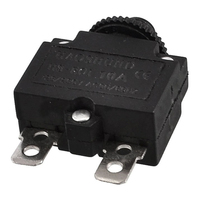 AC 125/250V 10A Circuit Breaker Thermal Overload Protector Black