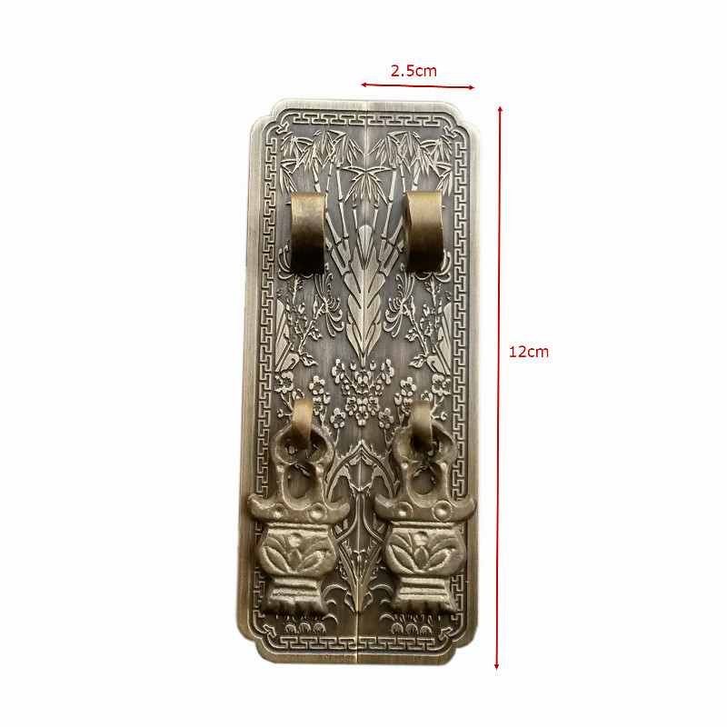 Chinese antique furniture accessories copper copper handle TV cabinet bookcase bookcase wardrobe bedside cabinet Showcase chinese furniture decorative copper accessories cabinet door latches lock long semicircle decoration accessories