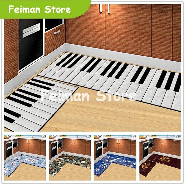 Piano Keys 3D Cartoon Stone Doormat Living Room Carpet Kitchen Rugs Bath Mats Outdoor Children Kids Bedroom Carpet Home Use