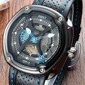 Nuevo llega AMST hombres reloj Marca 30 M impermeable relojes deporte de los hombres correa de cuero Reloj de Cuarzo de negocios hombres de la moda relojes de pulsera