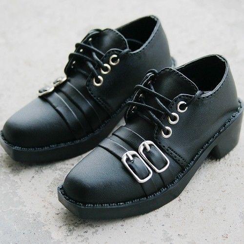 [wamami] 13# Black Synthetic Leather Shoes SD17 DZ70 70CM LUTS BJD Dollfie ~9cm