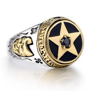 Image 5 - خاتماس خماسي مقلوب من الفضة الإسترليني عيار 925 للرجال مع خواتم خماسية من الأحجار الطبيعية خاتم مواكب للموضة للرجال