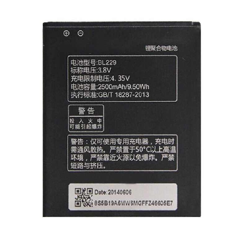 BL 229 BL229 Pin Dành Cho Lenovo A8 A806 A808T 2500 MAh Cao Cấp Điện Thoại Di Động Thay Thế Sạc Mở Rộng
