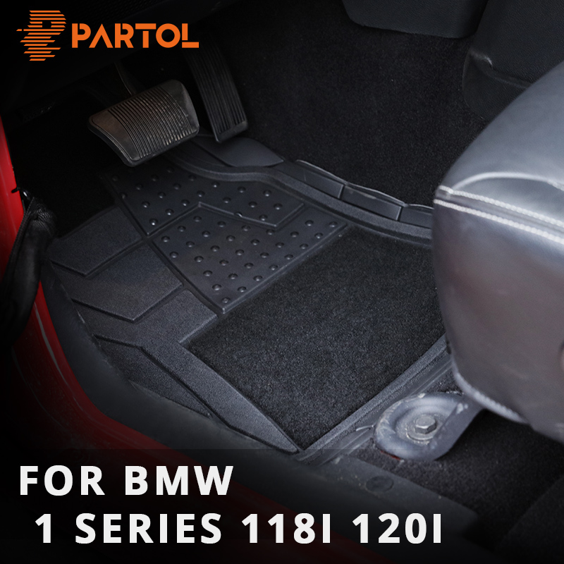 Partol 4Pcs/Set Crop- DIY Universal Car Floor Mats PVC Waterproof Durable Carpet Trimmable Floor Mats for BMW 1 series 118i 120i цена 2017