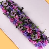 HUAIU искусственная Цветочная композиция Свадебная вечеринка сцена украшения DIY цветок стены фотография Реквизит Роза поддельные цветы