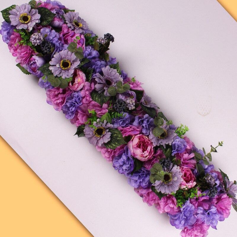 HUAIU искусственная Цветочная композиция Свадебная вечеринка сцены украшения DIY цветок стены Опора Роза поддельные цветок
