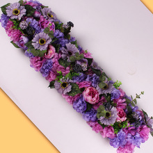 HUAIU Artificial Flower Arrangement Wedding Party Scene Decoration DIY Wall Photography Prop Rose Fake