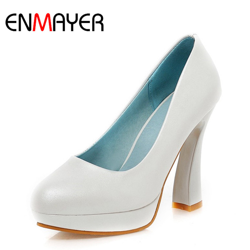ENMAYER Women Pumps Pointed Toe Fashion Sexy High Heels Shoes Womens Wedding Platform Pumps Slip-on Blue White Shoes for Women развивающие игрушки little tikes наковальня 634901