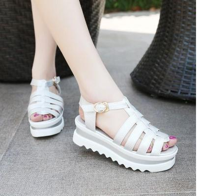 c76fce5081 2015 New summer European American women student Gladiator platform sandals  flat peep toes platform flat fashion shoes