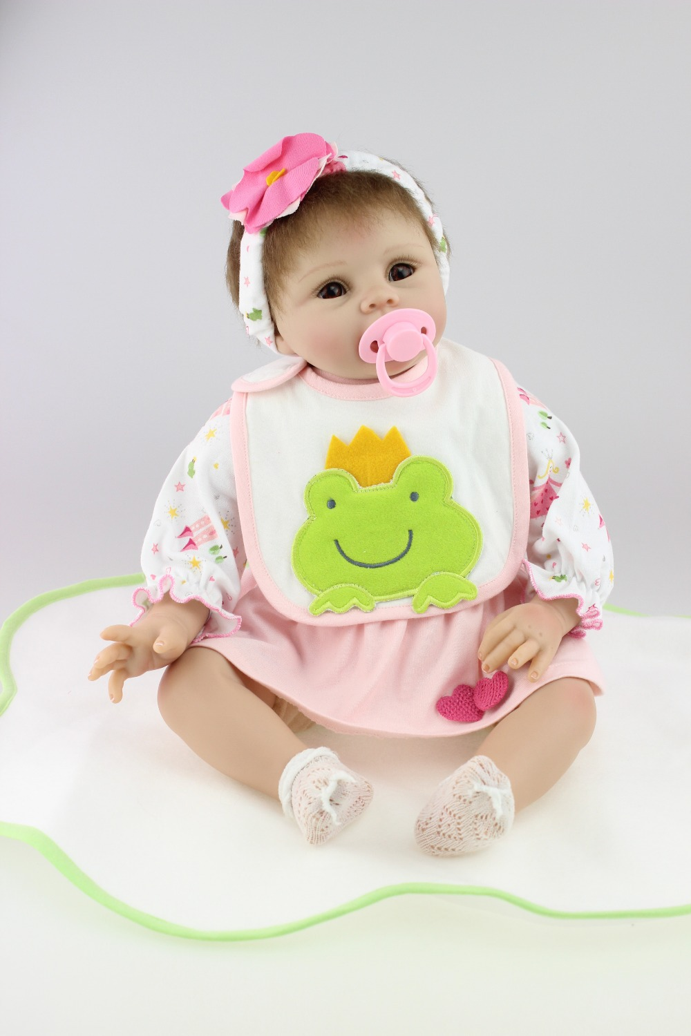 Free shipping hot-sale lifelike reborn baby dolls fashion doll silicone vinyl real soft gentle touch for children