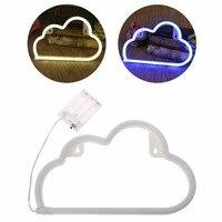 LED Cloud Neon Sign Light Night Lamp W Battery Box Wedding Xmas Party Decor Bulbs
