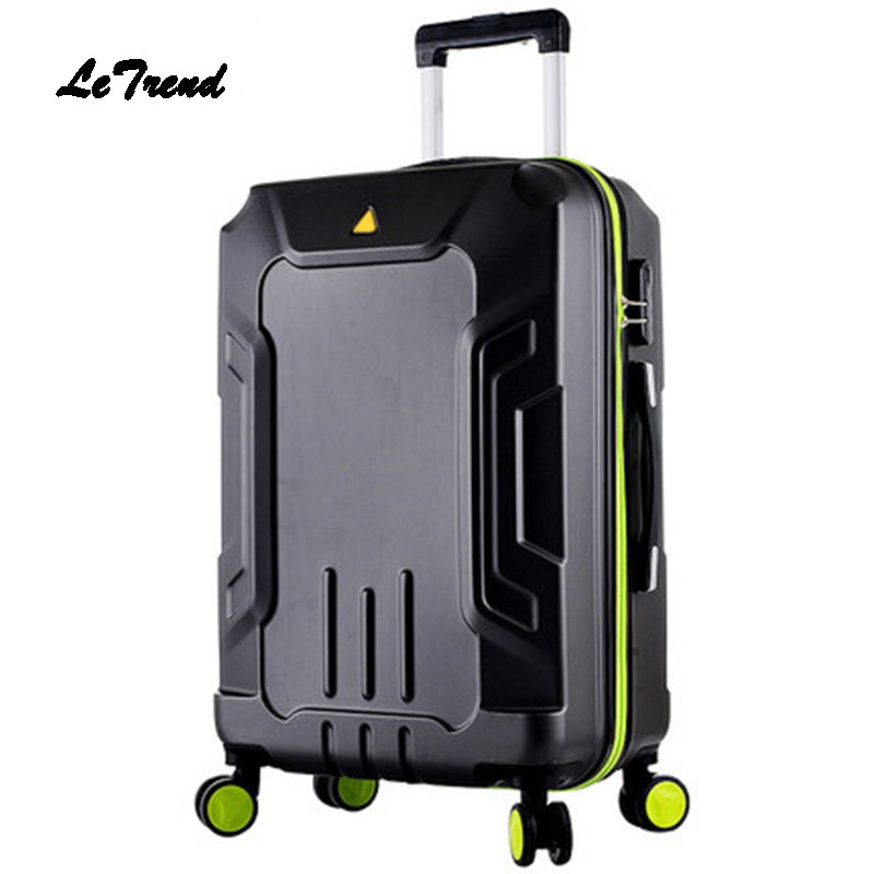 Letrend Student Rolling Luggage Spinner Travel Bag Carry On Password Men Women Wheels Suitcase Trolley Trunk 20/24/28 inch new travel carry on luggage bags tourism men travel bags for women trolley duffel bag with wheels rolling luggage wheeled bolso
