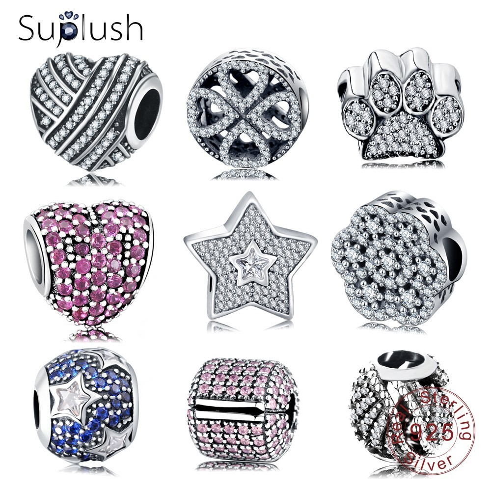 Suplush 100% 925 Sterling Silver Sparkling AAA Cubic Zircon s