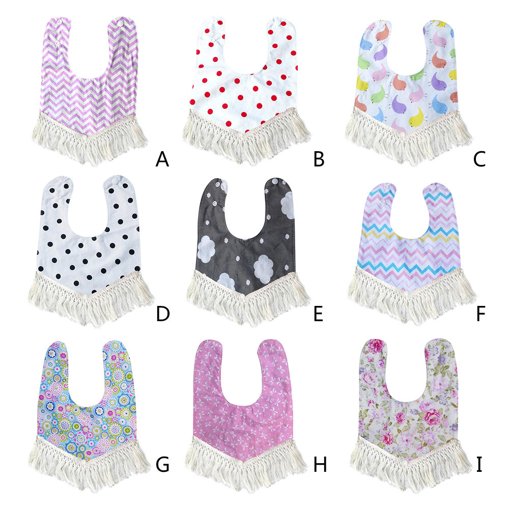 CHAMSGEND hot bandana bavoir Baby Newborn Infants Kids Toddler Cotton Tassel Waterproof Bibs Saliva Towel kids eating bib P30