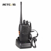 New Black Baofeng BF-888S  Walkie Walkie Retevis H-777 UHF 5W 16CH Portable Two Way Radio Communicator Interphone A9014A
