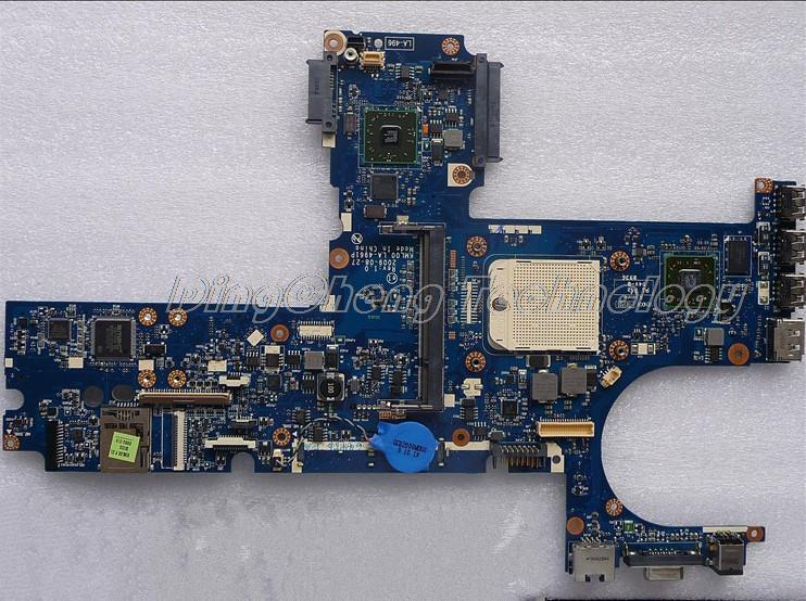 SHELI laptop Motherboard For hp 6445B 6455B 6555B 583261-001 LA-4961P for ADM cpu with non-integrated graphics card