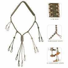 PSKOOK Duck Call Lanyard with 12 Adjustable Loops Hunting Goose Calls  Outdoor Paracord Hunting Lanyard Hand Braided Necklace buck gardner calls brad s reactor duck call