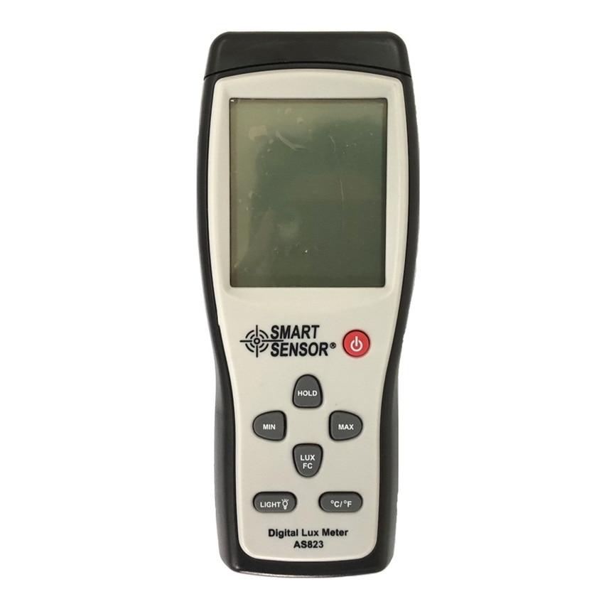 Digital Lux meter Spectrophotometer Light Meter 200,000 Test AS823 High Precision Digital Luxmeter Illuminometer