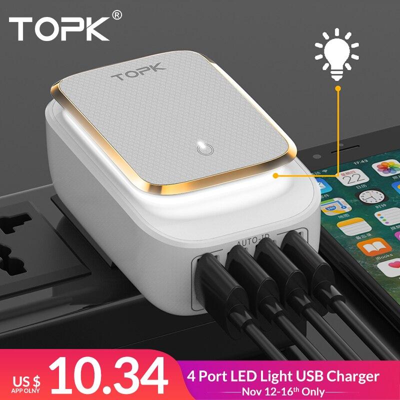 TOPK L-Power 4-Port 4.4A(Max) 22W EU USB Charger