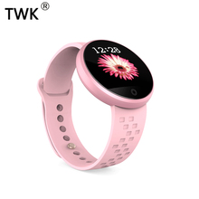 TWK Pink Smart Watch Women Fitness Bracelet Blood Pressure Smartwatch for iOS Android Ladies Luxury pk apple reloj