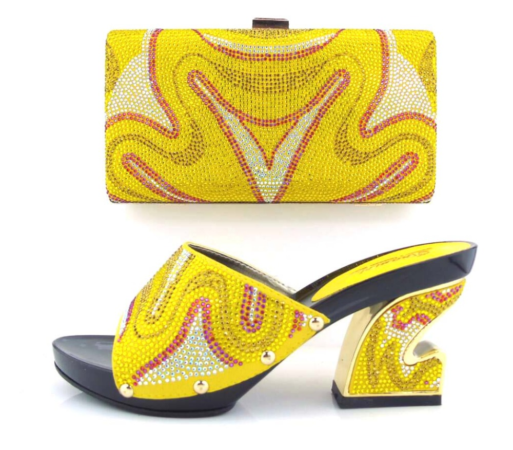 ФОТО Good Looking Ladies shoes and bags to match set High quality shoes and bag for Italian design !HUA1-3