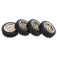 4PCS RC Car Parts 1/10 RC Tires On road Tyre Star Tread Pattern for 1/10 HSP Redcat Traxxas Tamiya HPI RC Buggy Cars Truck
