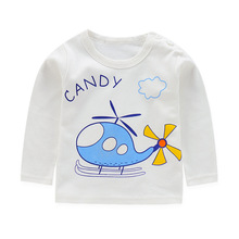 baby boy clothes  long sleeve kidsT-shirt quality 100% cotton children cartoon clothes tops tshirt kids costume girls tops children clothes long sleeve strawberry patten 100