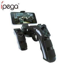 iPega Joystick Gun For iPhone Android Phone Mobile iPad Tablet Smartphone Controller Gamepad Trigger Game Pad Joistick Gaming red cager b030 15000mah smart mobile power charger w card reader function for pokemon game iphone ipad samsung smartphone tablet