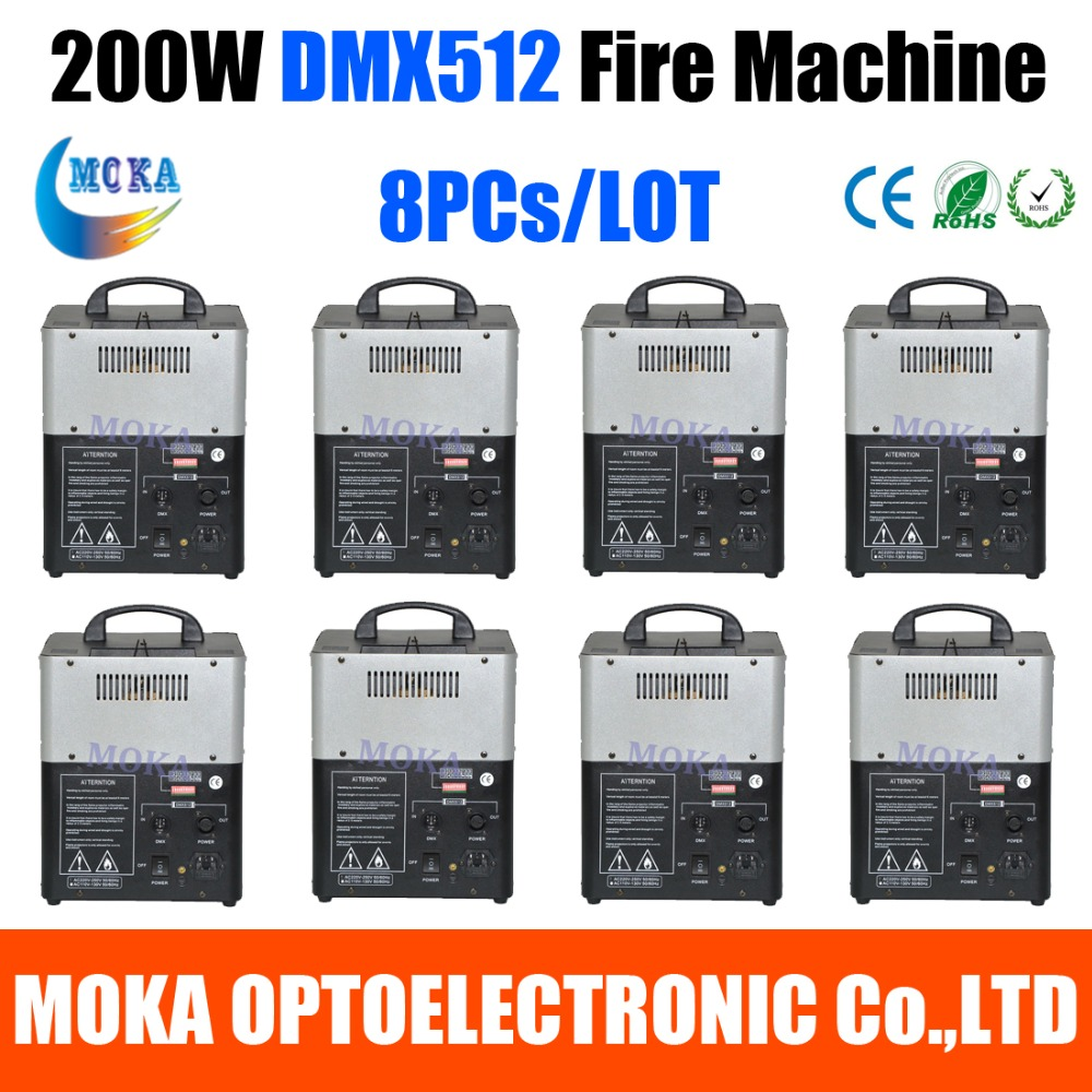8pc/lot Stage Effect Fire Machine DMX Fire Projector Machine Flame Thrower Flame Machine Party DJ Equipment 2pcs lot fire machine flame machine 3m height special effect fire spray machine dmx 512 fire thrower
