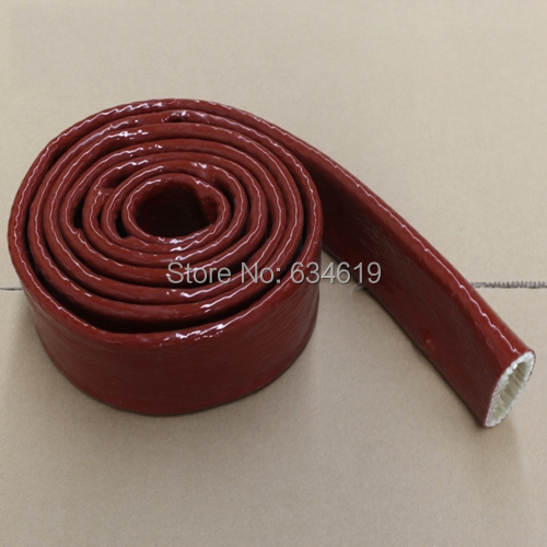 100mm wire and cable protection silicone fiberglass casing for Fiberglass insulation fire rating